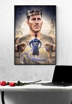 Tranh Treo Tường Cầu Thủ Bóng Đá Eden Hazard Mẫu 2