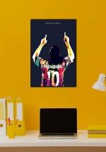 Tranh Treo Tường Cầu Thủ Bóng Đá Ronaldinho Mẫu 02