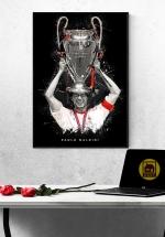 Tranh Treo Tường Cầu Thủ Bóng Đá Paolo Maldini Mẫu 02