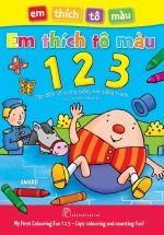 Em Thích Tô Màu 123 - Tập Đánh Vần Tiếng Anh Bằng Tranh (Có Chú Thích Tiếng Việt)