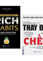 Combo Rich Habits - Thói Quen Thành Công Của Những Triệu Phú Tự Thân + Thay Đổi Hay Là Chết - Bí Quyết Giúp Các Thương Hiệu Huyền Thoại Luôn Dẫn Đầu (Bộ 2 Cuốn)