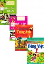 Bộ Sách Ôn Tập Hè Lớp 1 Toán + Văn + Anh : Theo Chương Trình Mới (Bộ 4 Cuốn)