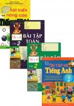 Bộ Sách Ôn Tập Hè Lớp 2 Toán + Văn + Anh : Theo Chương Trình Mới (Bộ 4 Cuốn)