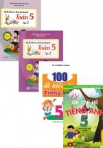 Bộ Sách Ôn Tập Hè Lớp 5 Toán + Văn + Anh : Theo Chương Trình Mới (Bộ 4 Cuốn)