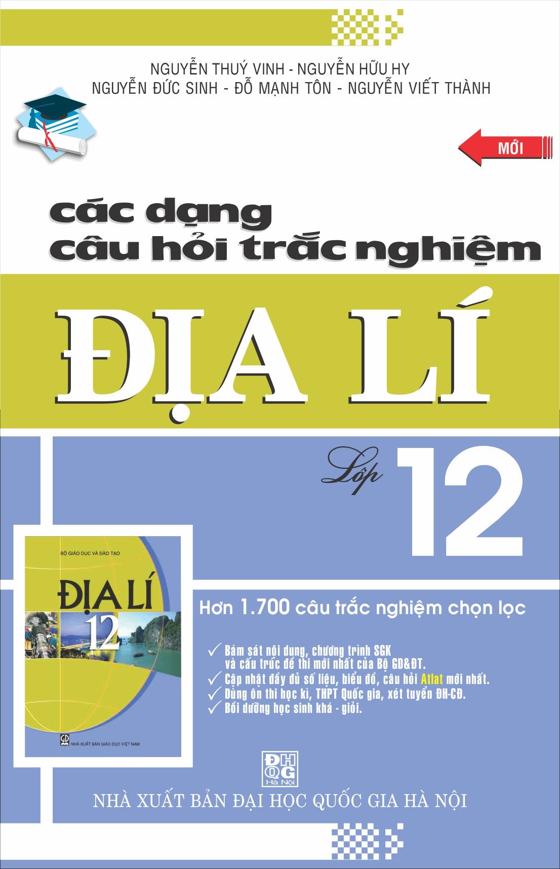 Các Dạng Câu Hỏi Trắc Nghiệm Địa Lý 12 - EBOOK/PDF/PRC/EPUB
