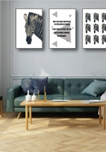Tranh Canvas Treo Tường Ngựa Vằn
