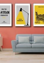 Tranh Canvas Treo Tường Fashion Và Ngựa Vằn
