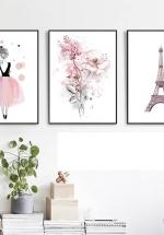 Tranh Canvas Treo Tường Cô Gái Và Tháp Eiffel