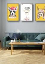 Tranh Canvas Treo Tường Hai Chú Chó