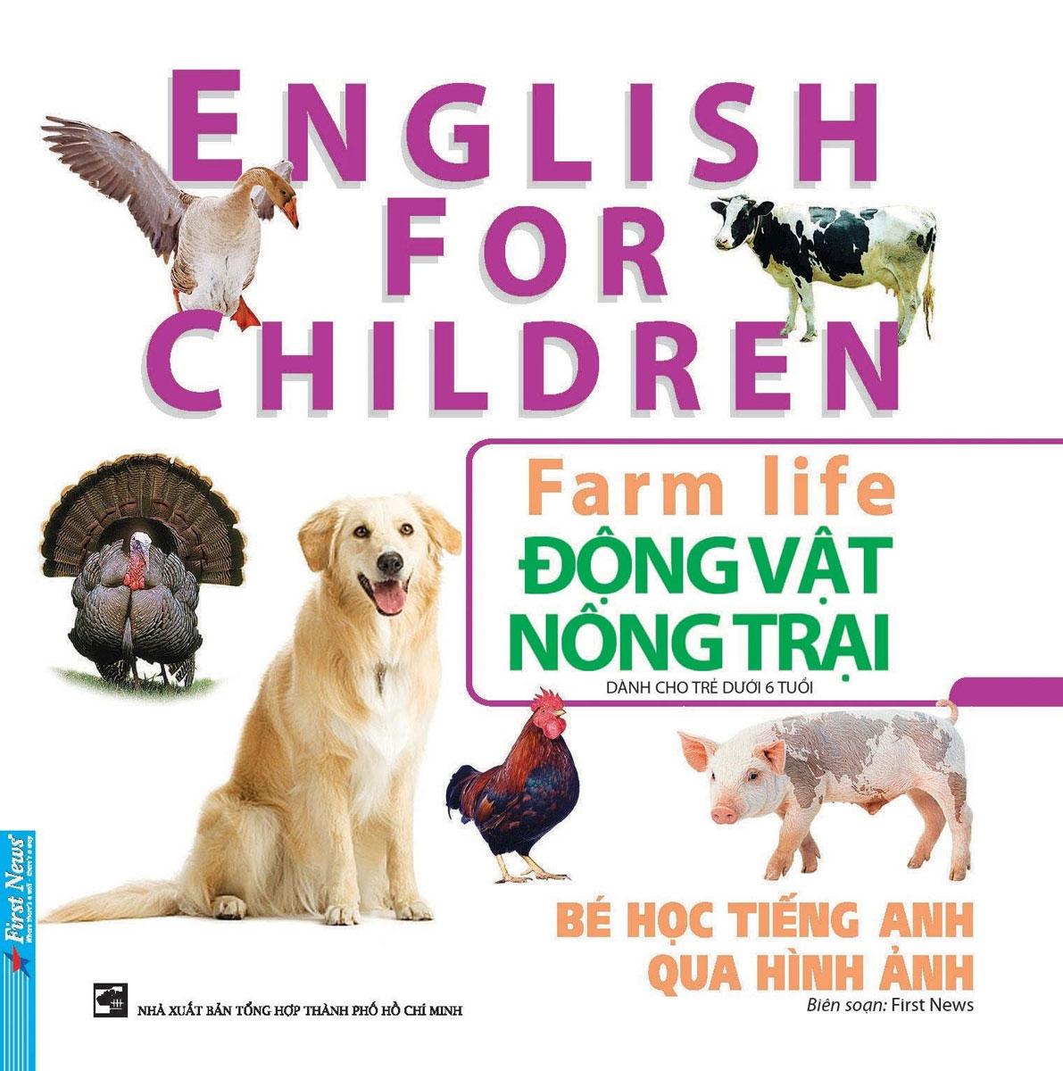 Bé Học Tiếng Anh Qua Hình Ảnh - Động Vật Nông Trại