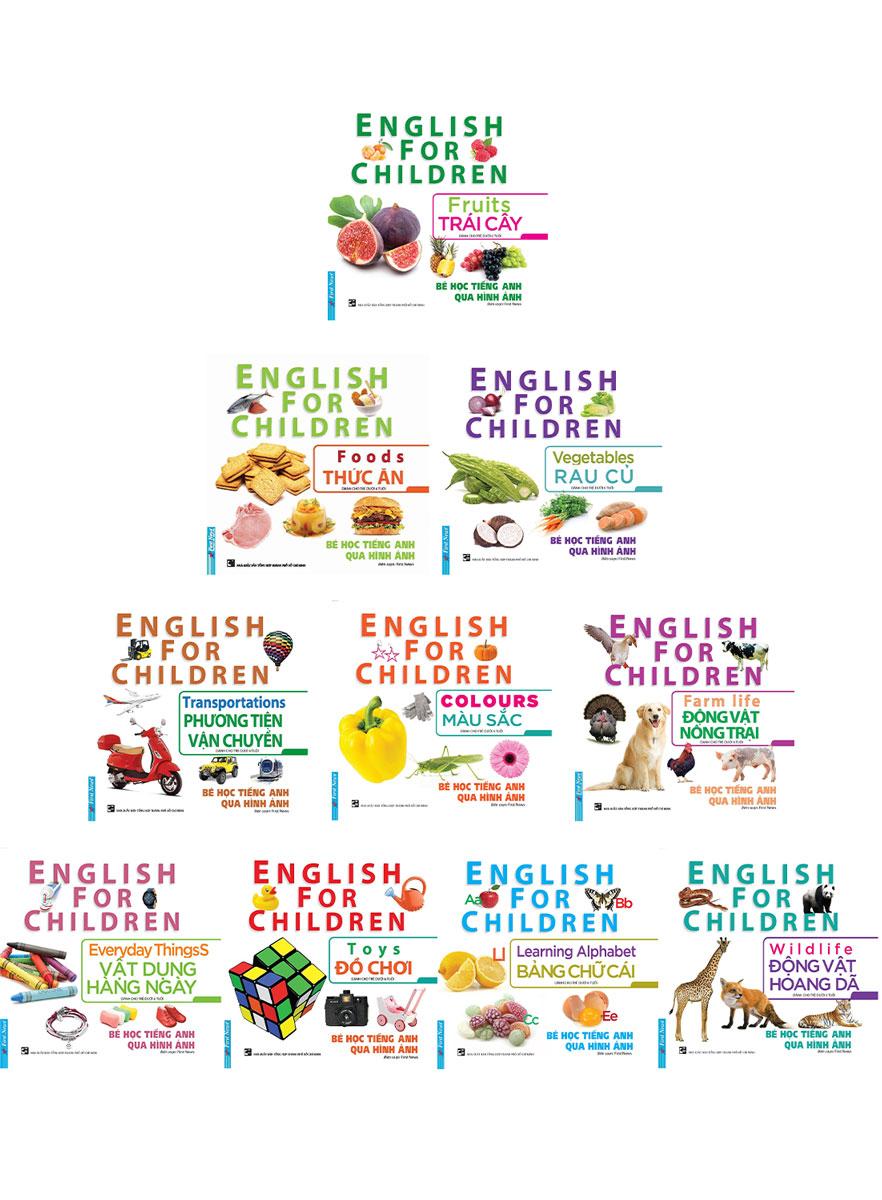 Combo Bé Học Tiếng Anh Qua Hình Ảnh (Bộ 10 Cuốn)