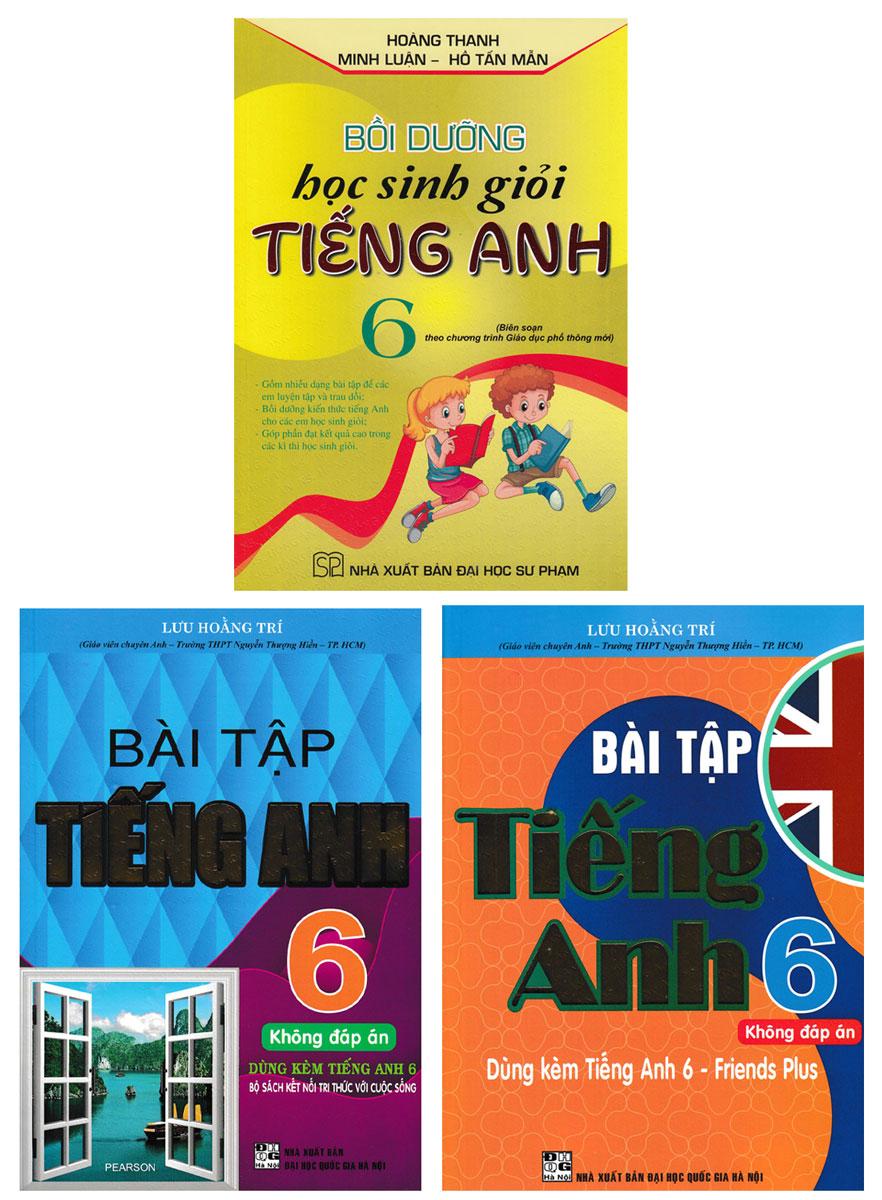 Combo Bài Tập Tiếng Anh 6 + Bồi Dưỡng Học Sinh Giỏi Tiếng Anh Lớp 6 - Biên Soạn Theo Chương Trình Mới (Bộ 3 Cuốn)