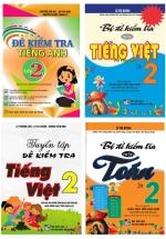 Combo Đề Kiểm Tra Toán - Tiếng Việt - Tiếng Anh Lớp 2 (Bộ 4 Cuốn)