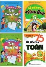 Combo Đề Kiểm Tra Toán - Tiếng Việt - Tiếng Anh Lớp 5 (Bộ 4 Cuốn)