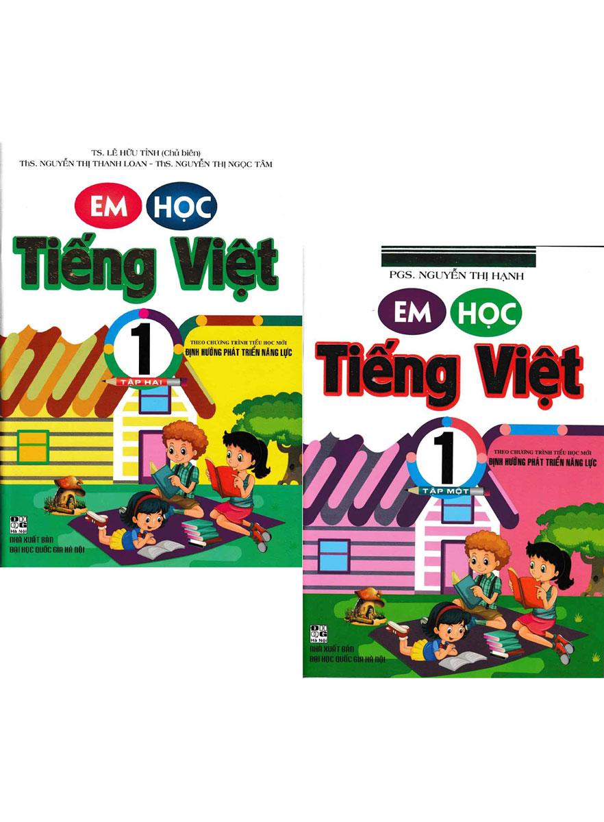 Combo Em Học Tiếng Việt 1 - Tập 1+2 (Theo Chương Trình Tiểu Học Mới Định Hướng Phát Triển Năng Lực)
