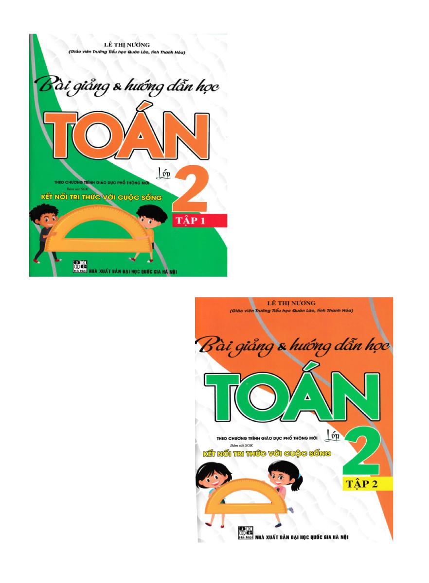 Combo Sách Bài Giảng Và Hướng Dẫn Học Toán 2 (Bám Sát SGK Kết Nối Tri Thức Với Cuộc Sống) (Bộ 2 Cuốn)