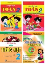 Combo Luyện Tập Toán - Đề Kiểm Tra Tiếng Việt - Tiếng Anh Lớp 2 (Bám Sát SGK Chân Trời Sáng Tạo) (Bộ 4 Cuốn)