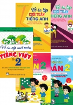 Combo Luyện Tập Toán - Vở Ôn Tập Cuối Tuần Tiếng Việt - Tiếng Anh Lớp 2 (Bám Sát SGK Kết Nối Tri Thức Với Cuộc Sống) (Bộ 5 Cuốn)