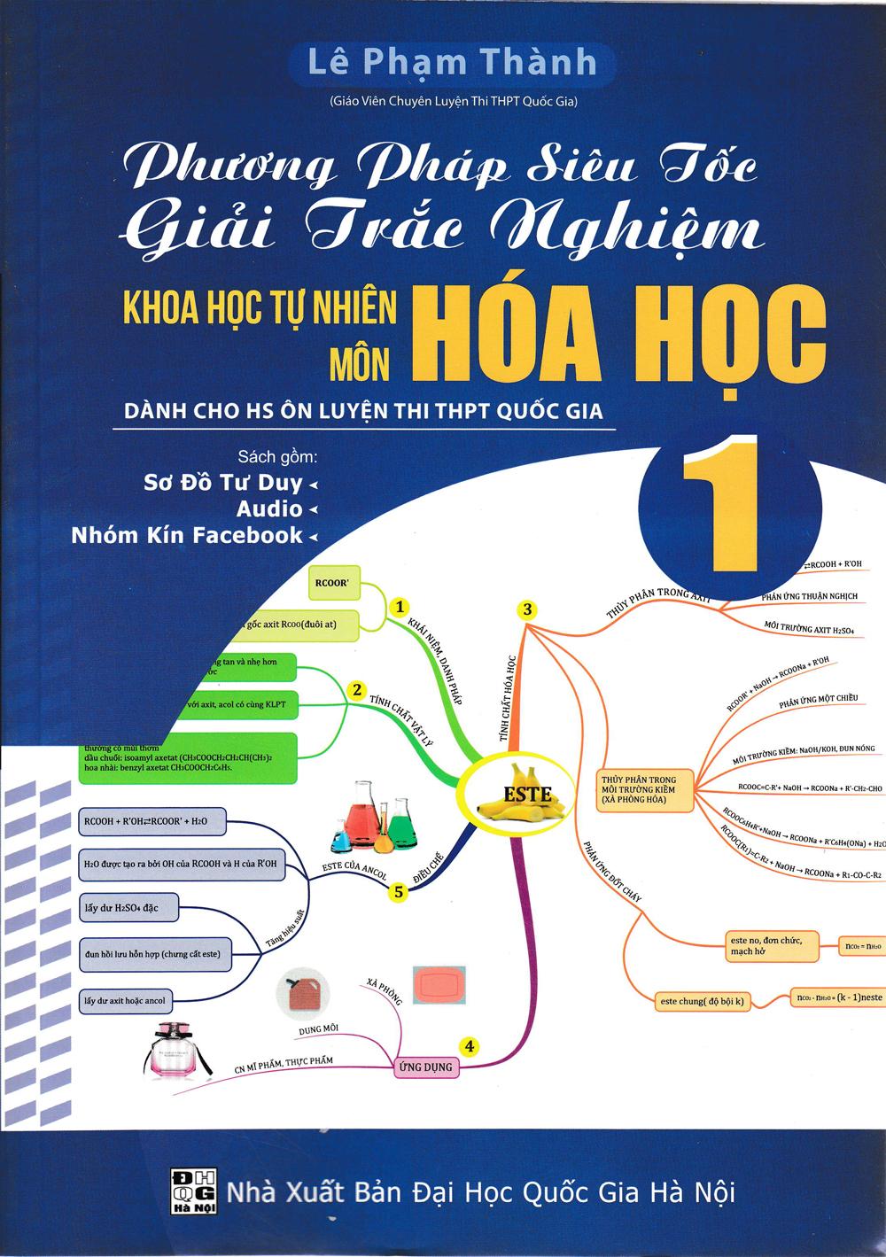 Phương Pháp Siêu Tốc Giải Trắc Nghiệm Môn Hóa Học 1 (Sơ Đồ Mindmap) - EBOOK/PDF/PRC/EPUB