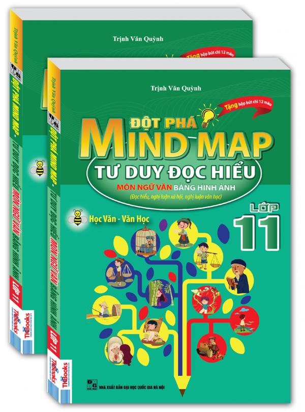 Đột Phá Mind Map Tư Duy Đọc Hiểu Môn Ngữ Văn Bằng Hình Ảnh Lớp 11 - Tặng Kèm Hộp Bút Chì Màu - EBOOK/PDF/PRC/EPUB