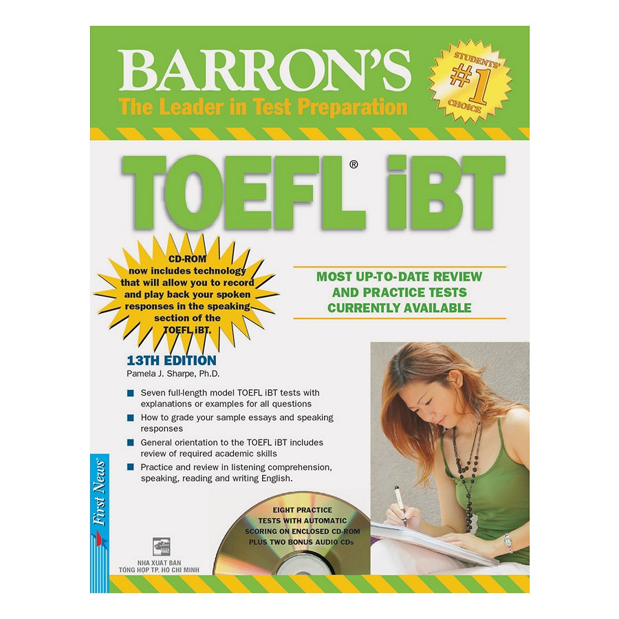 Barron's Toeft IBT 13th Edition - Kèm CD - EBOOK/PDF/PRC/EPUB