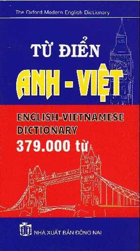 Từ Điển Anh Việt (379.000 từ) - EBOOK/PDF/PRC/EPUB