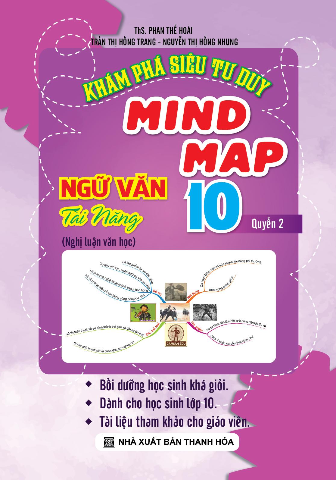 Khám Phá Siêu Tư Duy Mind Map Ngữ Văn Tài Năng 10 -Quyển 2 - EBOOK/PDF/PRC/EPUB
