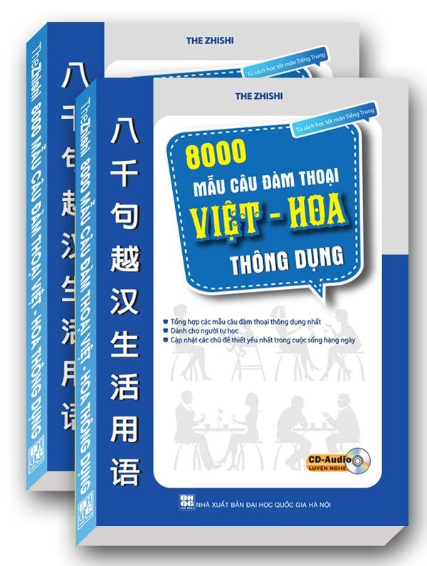 8000 Mẫu Câu Đàm Thoại Việt - Hoa Thông Dụng (Kèm CD)
