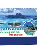 Lịch Để Bàn Chữ A - Những Hòn Đảo Xinh Đẹp