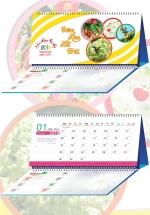 Lịch Để Bàn Chữ A 2018 Có Note - Đơm Hoa Kết Trái