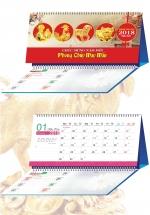 Lịch Để Bàn 2018 Chữ A Có Note - Phong Thủy May Mắn