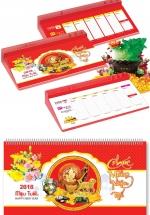 Lịch Để Bàn 52 Tuần Đế Nhựa 2018 - Phong Thủy Tài Lộc