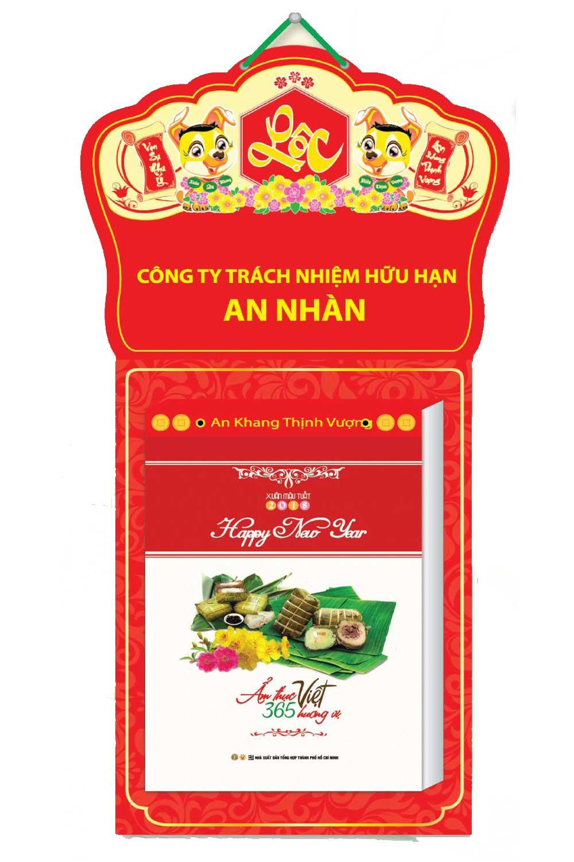 Lịch Bloc Siêu Đại 2018 KV08 (20x30 cm) - Ẩm Thực Việt 365 Hương Vị
