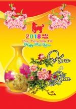 Lịch Bloc Trung Màu 2018 KV13 (10.5x14.5 cm) - Hoa Và Gốm