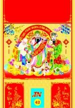 Bìa Đỏ Dán Bloc 2018 MS42 (35x60 cm) - Phúc Lộc Thọ