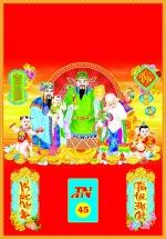 Bìa Đỏ Dán Bloc 2018 MS45 (35x50 cm) - Phúc Lộc Thọ Toàn