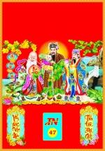 Bìa Đỏ Dán Bloc 2018 MS47 (35x50 cm) - Phúc Lộc Thọ