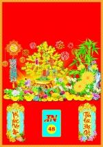 Bìa Đỏ Dán Bloc 2018 MS48 (35x50 cm) - Mai Lan Cúc Trúc