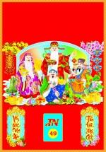 Bìa Đỏ Dán Bloc 2018 MS49 (35x50 cm) - Tứ Tấn Tài