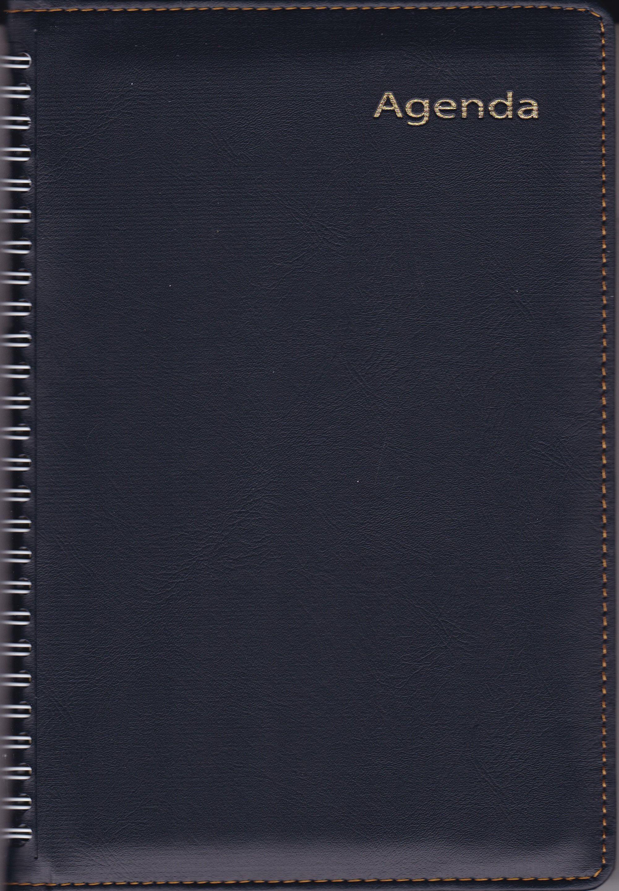 Sổ Agenda Lò Xo 2018 KV368 (14x20 cm) - Đen