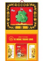 KV102 - Bìa 2018 Metalize Ép Kim Cao Cấp 7 Màu Dán Nổi (40 x 80 cm) - Khung Giả Gỗ, Dán Nổi Chữ Phước Cẩm Thạch