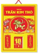 KV309 - Bìa Lịch Treo Tường 2018 (40x60 cm) - Hai Em Bé, Dán Nổi Chữ Phúc
