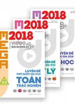 Combo Mega 2018 Toán - Lý - Hóa