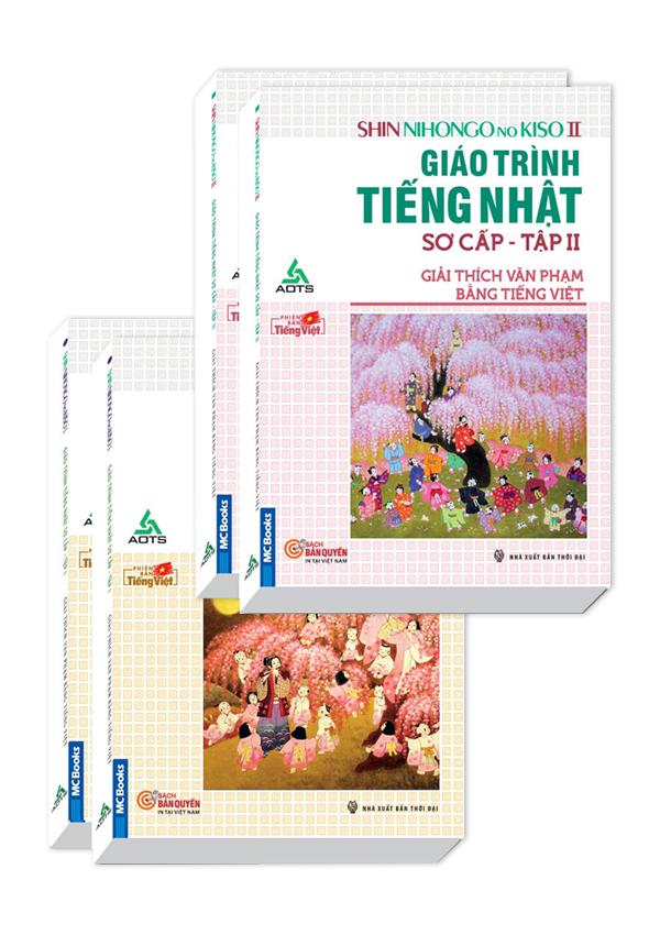 Combo Giáo Trình Tiếng Nhật Sơ Cấp -  Shin Nihonggo no Kiso - Giải Thích Văn Phạm Bằng Tiếng Việt