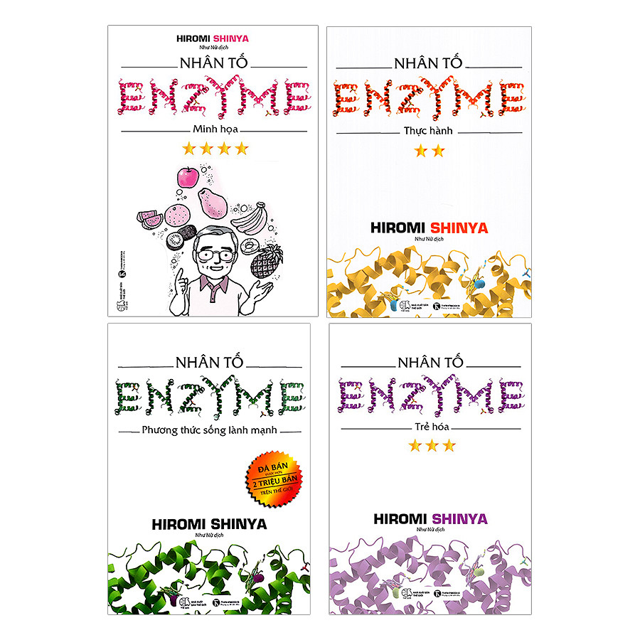 Combo Nhân Tố Enzyme - Trọn Bộ 4 Quyển