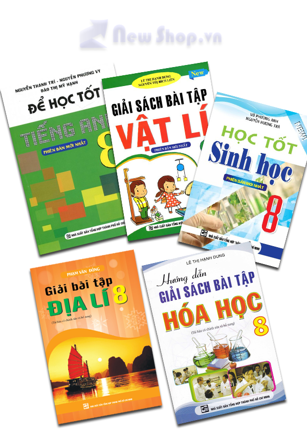 Combo Sách Giải Hóa - Sinh - Anh - Địa - Lý Lớp 8 - EBOOK/PDF/PRC/EPUB