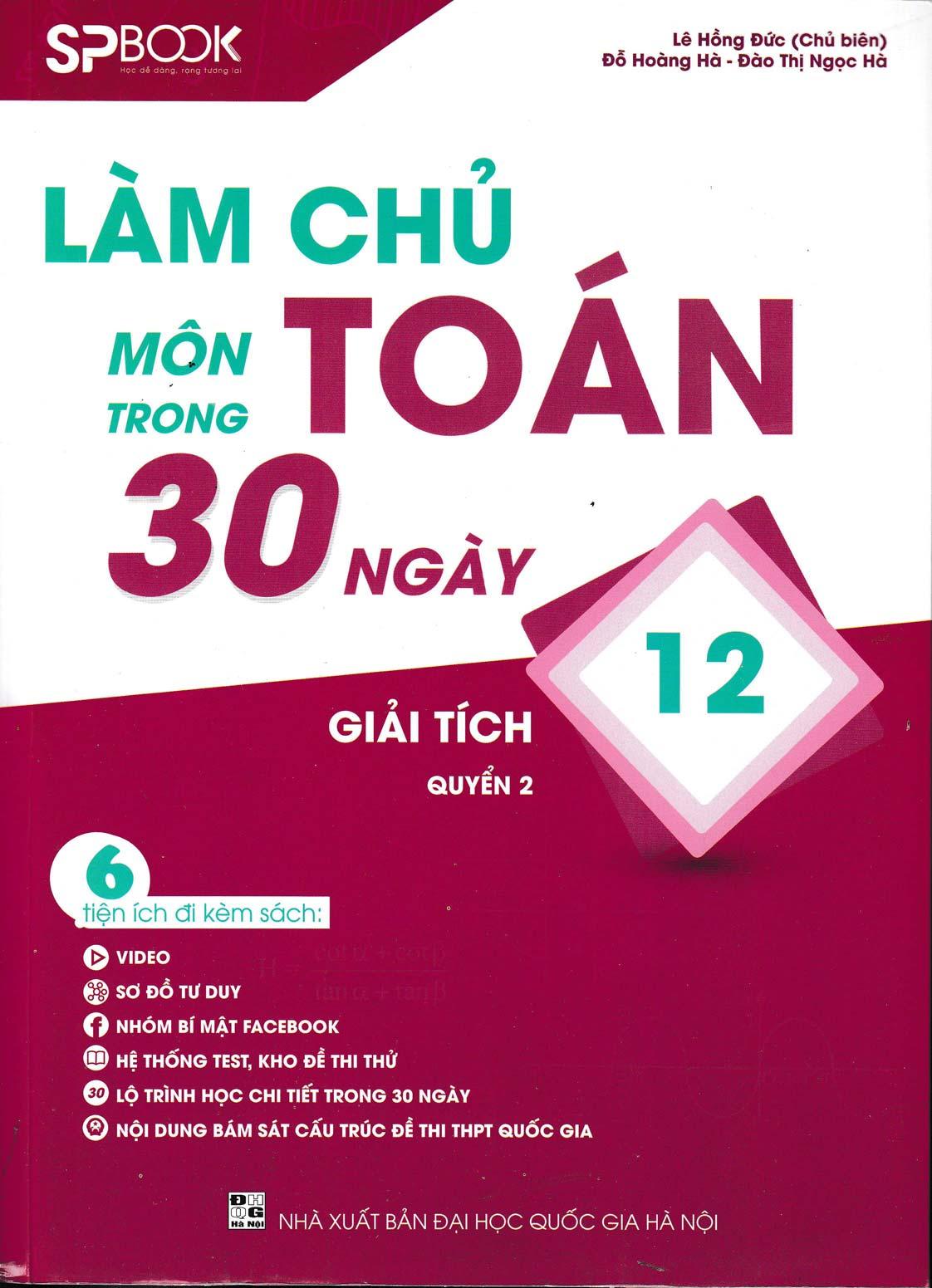 Làm Chủ Môn Toán Trong 30 Ngày Giải Tích 12 - Quyển 2 - EBOOK/PDF/PRC/EPUB