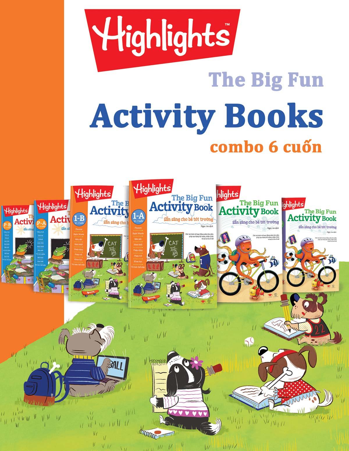 The Big Fun Activity Books (Trọn Bộ 6 Cuốn) - EBOOK/PDF/PRC/EPUB